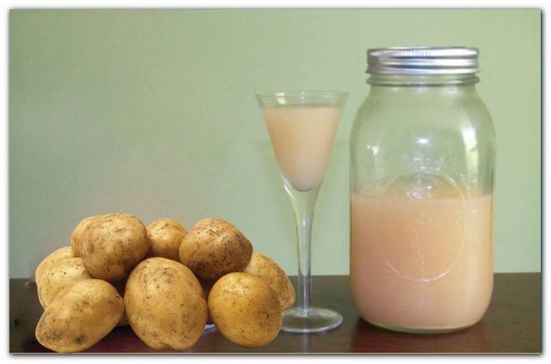 Картофельный сок для устранения отечности